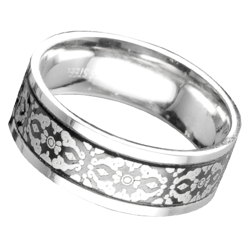 Ring mit Ornament Edelstahl