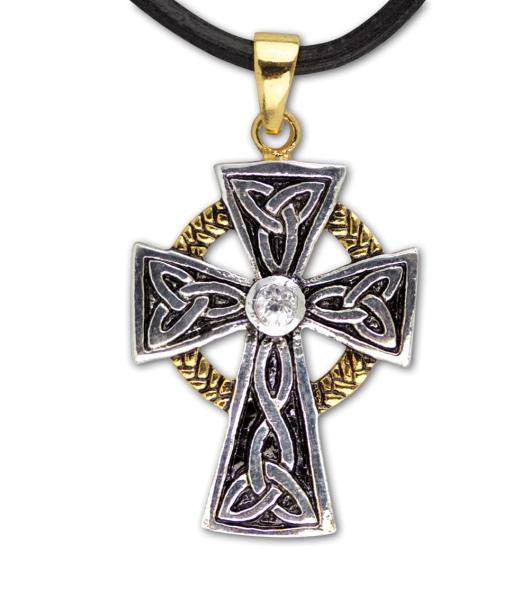 Keltisches Kreuz Bronze versilbert