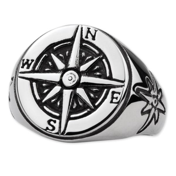 Ring Nautical Star aus Edelstahl Maritimer Schmuck