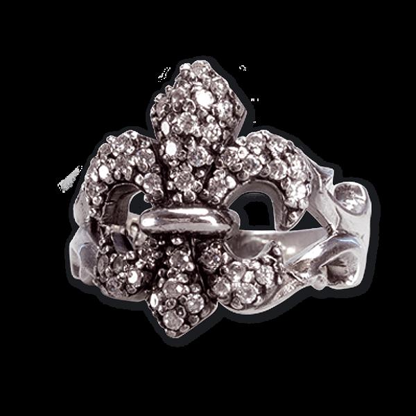 Ring Lilie Sparkling Lily 925er Sterling Silber mit Zirkonia