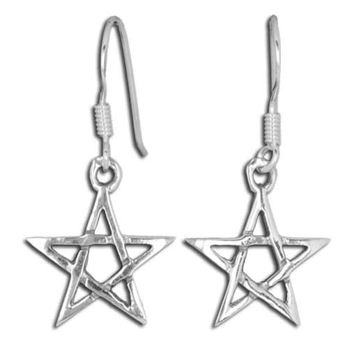 Ohrringe Pentagramm Ohrh