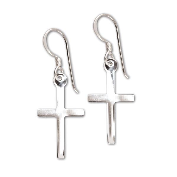 Ohrringe Kreuz Cross Ohrhänger 925er Sterling Silber Schmuck