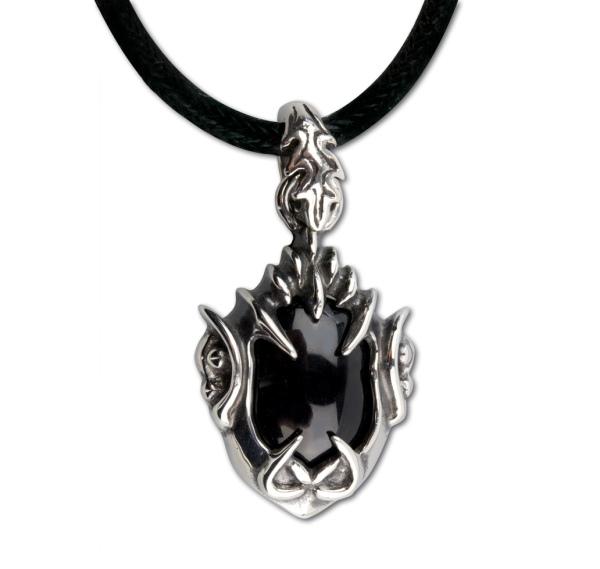 Anhänger Gothic Claw Edelstahl mit schwarzem Zirkonia