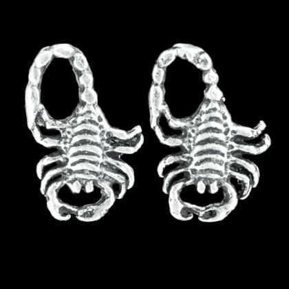 Silberohrstecker Skorpion