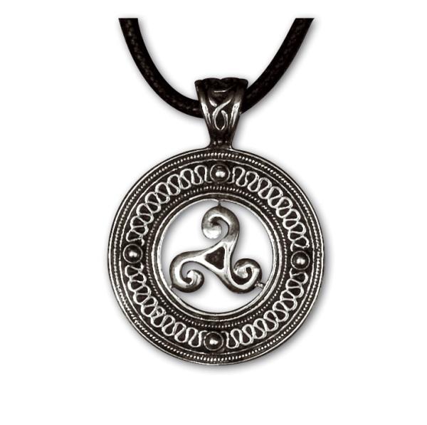 Anhänger keltische Triskele 925er Sterling Silber