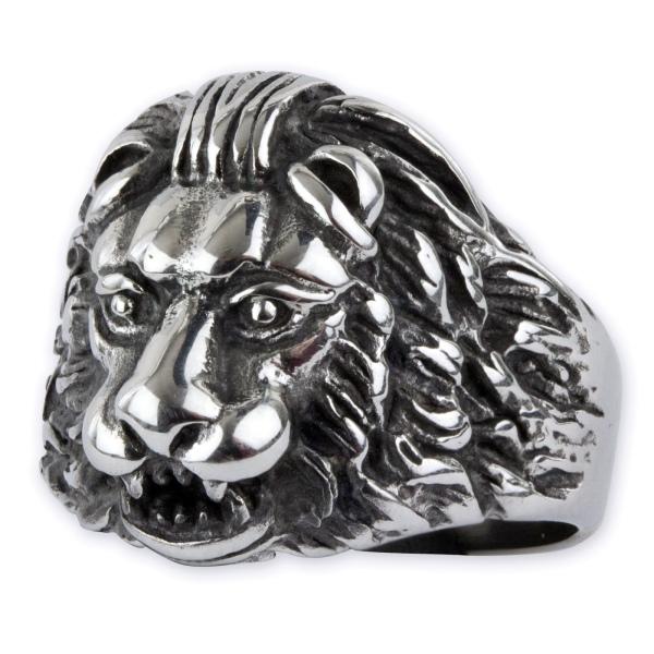 Löwenring aus Edelstahl
