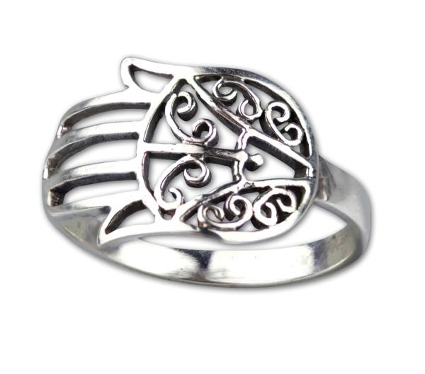 Ring Hand der Faitma aus 925er Sterling Silber