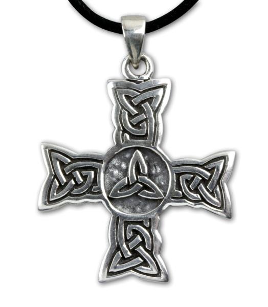 Anhänger Kreuz mit keltischen Knoten 925er Sterling Silber