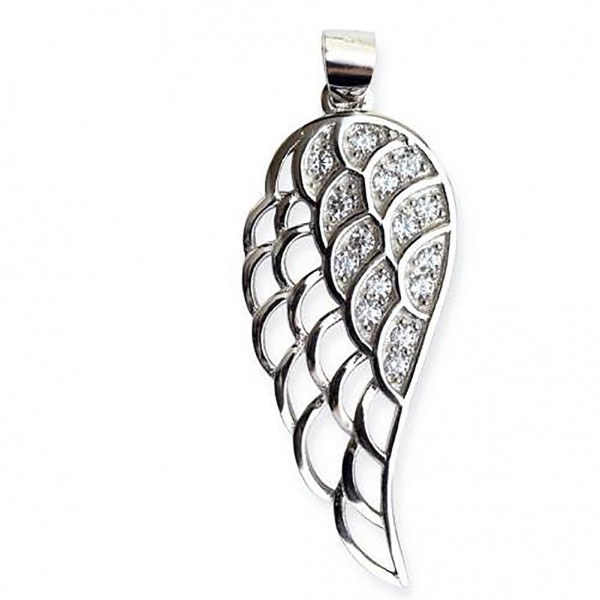 Engelsflügel aus 925er Sterling Silber mit Zirkonia