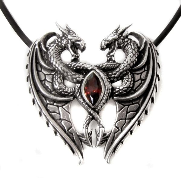 Anhänger Dragons Heart aus 925er Sterling Silber