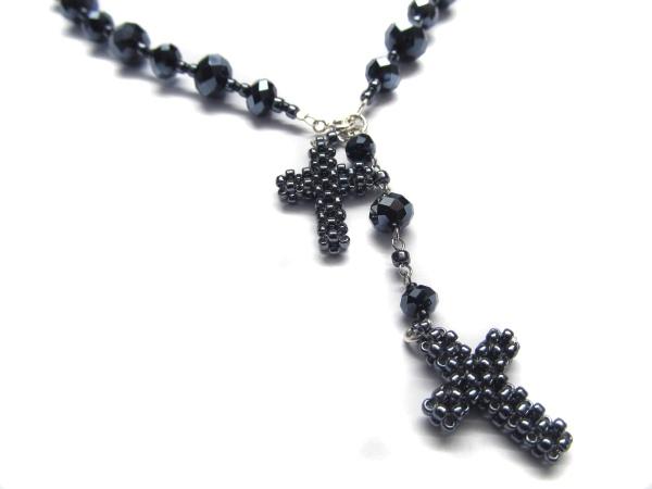 Kette mit 2 Kreuzen