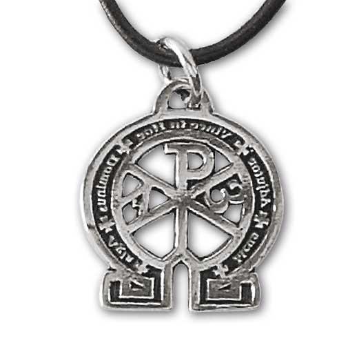 Amulett Alpha und Omega Talisman aus 925er Sterling Silber