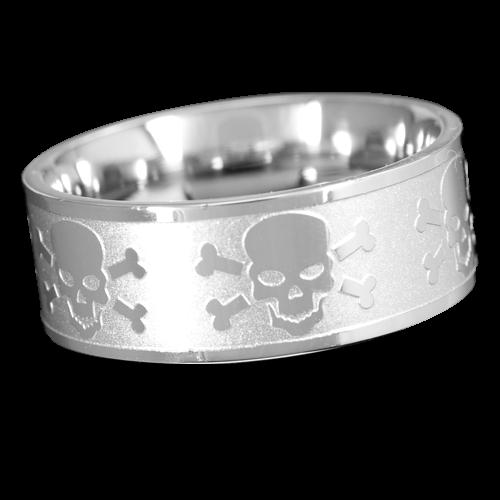 Ring Totenkopf Skull and Bones
