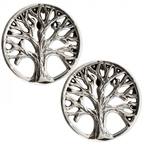 Ohrstecker Baum 925er Sterling Silber Breite 1,3cm