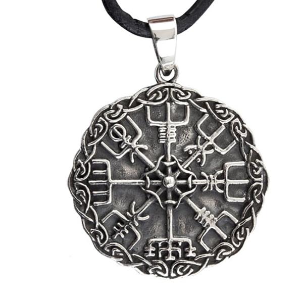 Amulett Wikinger Kompass aus 925er Sterling Silber