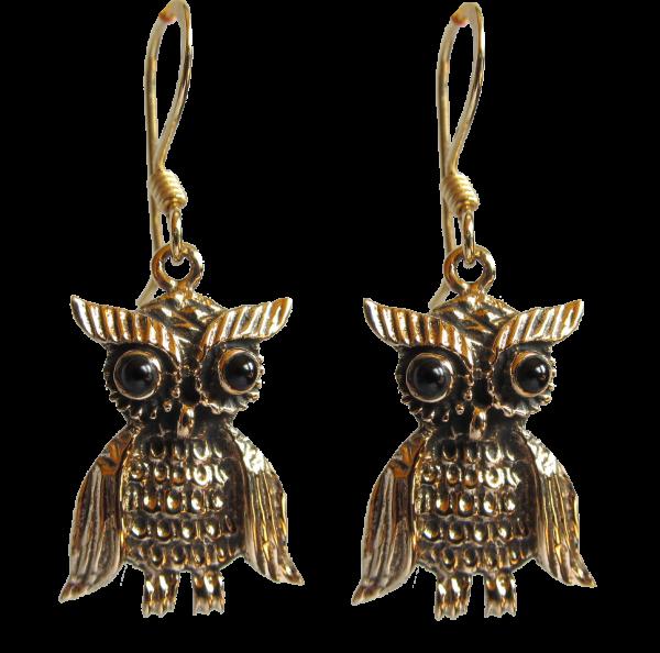 Eulen Ohrringe aus Bronze