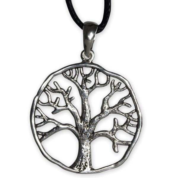 Anhänger Baum Lebensbaum aus 925er Sterling Silber 2,7cm