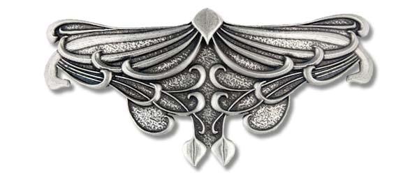 Haarspange Art Nouveau Jugenstil Victorian handgegossen aus englischen Zinn