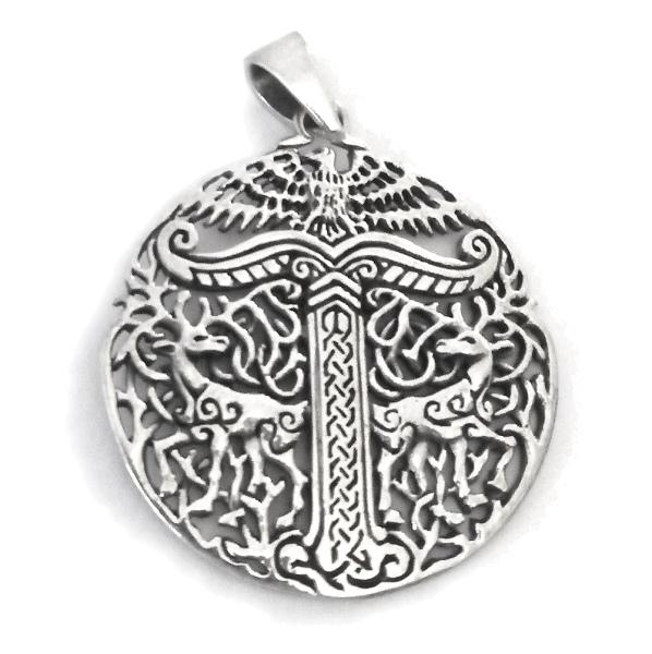 Irminsul 925er Sterling Silber Durchmesser 3,0cm