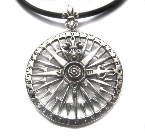 Silberanhänger Kompass Maritimer Schmuck
