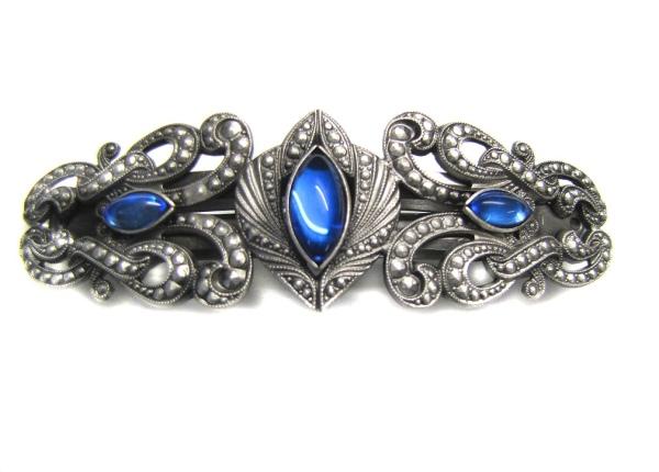Haarspange Blau