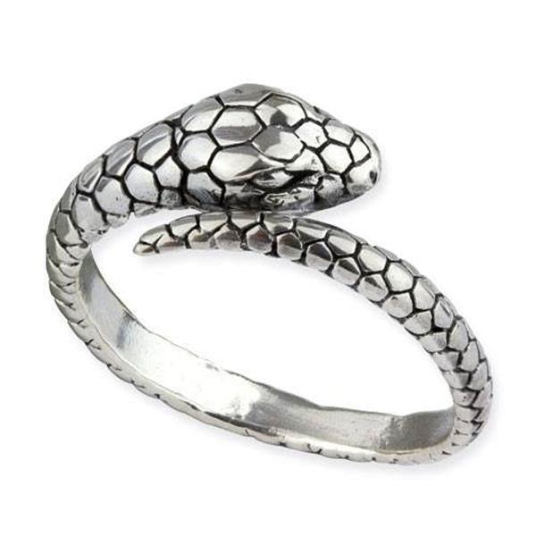 Silberring Schlange - Ring aus 925er Sterling Silber Breite 0,9cm