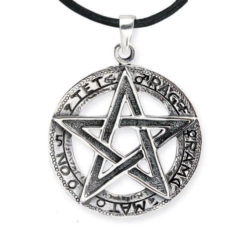 Anhänger Tetragrammaton Pentagramm aus 925 Sterling Silber